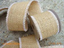 Juta naturale Burlap Hessian cucito nastro consente ritagliare Nastro Rustico Nozze floristica