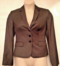 Calvin Klein 10 Tailored Lined Gray Pinstripe Career Button Blazer Jacket $129