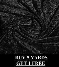 hochwertig schwarz Pannesamt Velour dehnbar kleiderherstellung Stoff Material