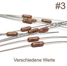 10x Präzisions-Widerstand für Meßgeräte / High-End Audio, Dale T9, 1%, 25 ppm/°C
