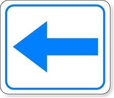 supplemental directional blue left arrow Metal Aluminum Composite Sign