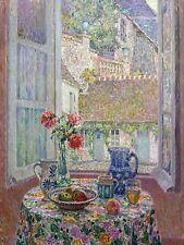 TABLE BY WINDOW by H. Sidaner fruit Tile Mural Kitchen Backsplash Marble Ceramic