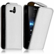 Piel Artificial Funda protectora de móvil con tapa para Sony Xperia U ST25i