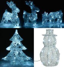 LED Luce Di Natale Figure Decorazione Di Natale Pupazzo di neve Renna o Albero