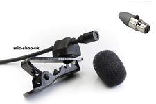 Discreet Lavalier Lapel discrete Microphone Compatible with TA4 Shure Wireless