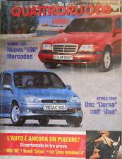Quattroruote 448 1993 Prove:Renault Safrane-inserto alleg,Fiat Croma turbodiesel