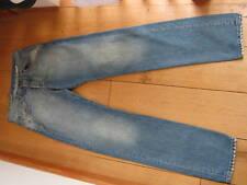 BLUE BLOOD STEVE LOBSTER STONEWASHED BLUE STRAIGHT LEG JEANS WAIST 29 NEW