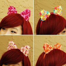Floral Cat Ears Headband - Cosplay Hairband