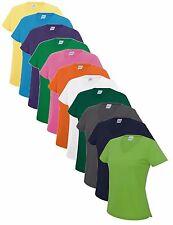 Damen V-Ausschnitt Wicking Polyester Performance Vee Hals Athletic T-Shirt