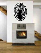 DEER a stella in Vinile Adesivo Muro Rimovibile Stag Design Elegante Decorazione UK