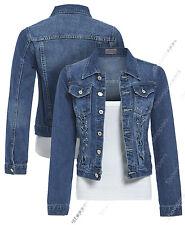 NEW DENIM JACKET Women Jeans Lace Jackets Distressed Eyelet Blue Size 8 10 12