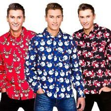Navidad Adulto Camisa Santa Muñeco De Nieve Reno Regalo Parte arriba disfraz