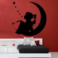 Moon Fairy Girls Wall Sticker Art Kids Room Boys Girls Décor GR121