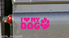 I Love My Dog, Car Sticker, Vinyl Decal, Graphic, 4x4, Land Rover, Labrador