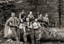 Bûcheron bois ouvriers métiers forêt - Repro photo ancienne deb. XXe