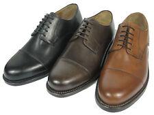 J.Briggs Herren Derby Leder Schuh Rahmengenäht Goodyear Welted Cap Toe Kappe
