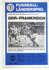 EM-Qualifikation 19.11.1986 DDR - Frankreich / France