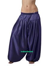 Navy Blue Satin Harem Pant Belly Dance Pantaloons Bombachos Aladdin Halloween