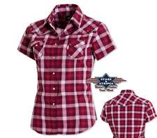 "Country Western Bluse ""Doreen"" - Stars&Stripes VIRGINIA Gr. M - 3XL Kurzarmbluse"