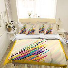 3D Color Lines Art 63 Bed Pillowcases Quilt Duvet Cover Set Single Queen US