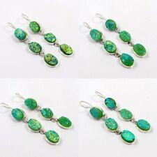 Green Sugar Druzy Agate Silver Plated Handmade Earring Jewelry JC6858-JC6861