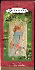 2001 Dated Hallmark Angel's Whisper Angel Ornament Nib New