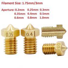 E3D-V5 V6 Brass 3D Printer Extruder Nozzle Head 0.2mm-1mm For 1.75/3.0mm RepRap