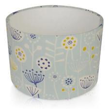 Fryetts Bergen Flowers Seafoam Blue & Navy Lampshade Ceiling Pendant Table Lamp