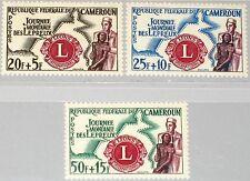 Camerún Camerun 1962 350-52 b33-35 leprosy relief work Lions Club lebbroso MNH