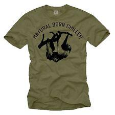 Lustiges Sprüche Herren T-Shirt mit Natural Born Chiller - Männer Fun Nerd Shirt