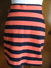 Gap women striped orange navy blue Jersey knit mini skirt small,large,Xlarge NWT