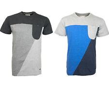 HUMÖR Fluw Herren T-Shirt blau grau T Shirt kurz Colour Block Jakato blue grey