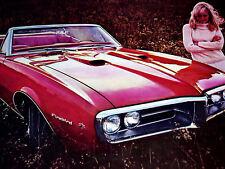 1967 PONTIAC FIREBIRD 400 VINTAGE AD-poster/print-RAM AIR V8 ENGINE/1968/326/455