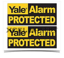 Yale Puerta y Ventana de Alarma Antirrobo HSA3000 o HSA6000 Pegatinas de Advertencia de seguridad