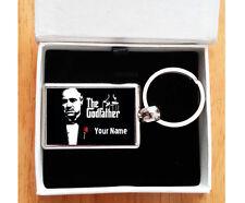 Personalised (GODFATHER / GODMOTHER) LUXURY Metal Keyring + Gift Box