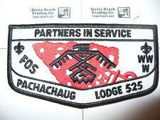 OA Pachachaug Lodge 525 S-20, Thunderbird, FOS Service Flap,Mohegan,Worcester,MA