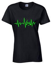 Músico Ekg Ecg Camiseta para Dama Guitarra Reproductor Música Baterista