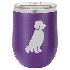 Stemless Wine Tumbler Coffee Travel Mug Glass Goldendoodle
