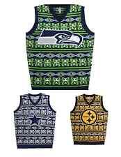 NFL Football Team Logo Warm AZTEC Print Ugly Sweater Vest - Pick Your Team!