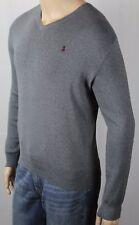 Ralph Lauren Grey Pima Sweater Burgundy Pony NWT