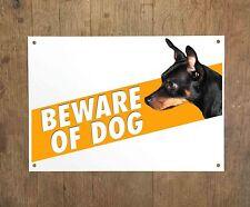 German Pinscher 8 Beware of dog sign metal