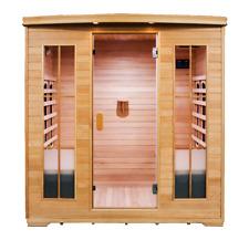 Sauna 4person infra-red Ravenna Ceramic Quartz Canadian Pine Wood Stress Relief