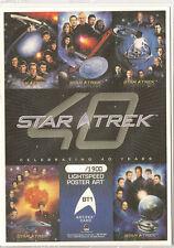Star Trek 40th Anniversary BT1 Box Topper Archive Card TOS Crew