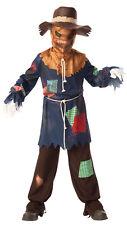 Boys Girls Teen Sinister Evil Zombie Scarecrow Halloween Fancy Dress Costume