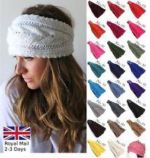 Le donne moda donna inverno caldo elegante a maglia lana Cerchietto Hairband paraorecchie