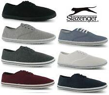 Mens Slazenger Lace up Canvas Pumps Plimsolls Shoes Trainers 6 Colours Size:4-15