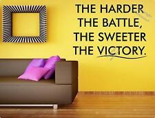 Il più difficile la battaglia, il più dolce la vittoria-Motivazionali adesivo muro