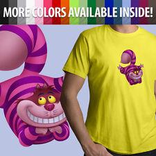 Cheshire Cat Alice in Wonderland Disney Movie Unisex Mens Tee Crew Neck T-Shirt