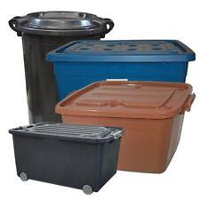 Aufbewahrungsboxen Aufbewahrungstonne Rollboxen Rollcontainer Plastebox Deckel