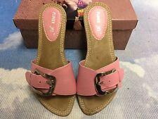 Pliner Jrs By Donald J Pliner Pink Leather Slide Sandal Size 36 /US Womens 5.5-6